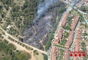 Imatge aèria de l'incendi // Bombers
