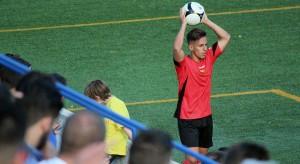 Kilian García, del FC Santboià, en un partit de la temporada passada // Jose Polo