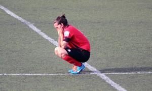 León, del FC Santboià, en al final del matx // Marta Pedrola