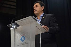 José Ángel Carcelén en el ple de constitució de l'Ajuntament // Maria Rubio