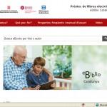 Captura de la pàgina principal d'eBiblio, el nou sistema de préstec digital // Diputació de Barcelona