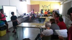 Imatge de la presentació del projecte Eurone't a l'escola Montbaig // Ajuntament de Sant Boi