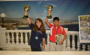 Joana Ros, a l'esquerra, aixecant la copa de campionat // igualtatstboi.wordpress.com