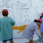 Nens participant a una de les activitats del projecte // Ajuntament de Sant Boi