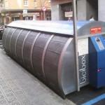 Estació de Bicibox al carrer Mallorca davant de Can Massallera // Bicibox