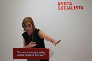 Carme Chacón ha participado en el acto de las mujeres socialistas en Can Massallera // David Guerrero