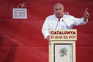 Lluís Rabell durant l'acte de Catalunya sí que es pot al parc de la Muntanyeta // David Guerrero