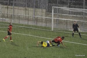 Moment sota la pluja del Santboià - Castelldefels // FC Santboià