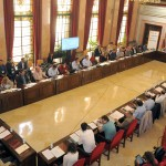 Imatge de la reunió per la nova direcció de l'ens // Red de Ciudades por la Bicicleta