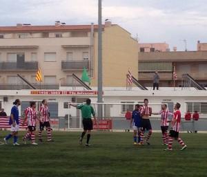 Imatge d'un instant del partit // FC Santboià