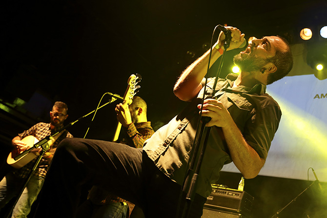 Jordi Cabestany en l'actuació de la sala Apollo // Carles Rodríguez