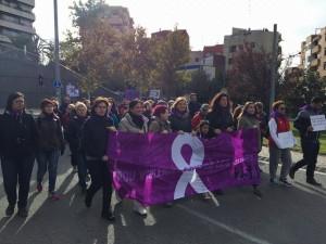 Els santboians marxant contra la violència masclista // Ajuntament de Sant Boi