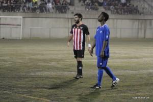 Buba, autor de dos gols, en moment del partit // FC Santboià
