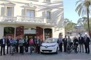 Imatge de la presentació dels vehicles elèctrics // Ajuntament de Sant Boi