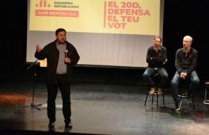Oriol Junqueras, al seu discurs a Can Massallera // Elisenda Colell