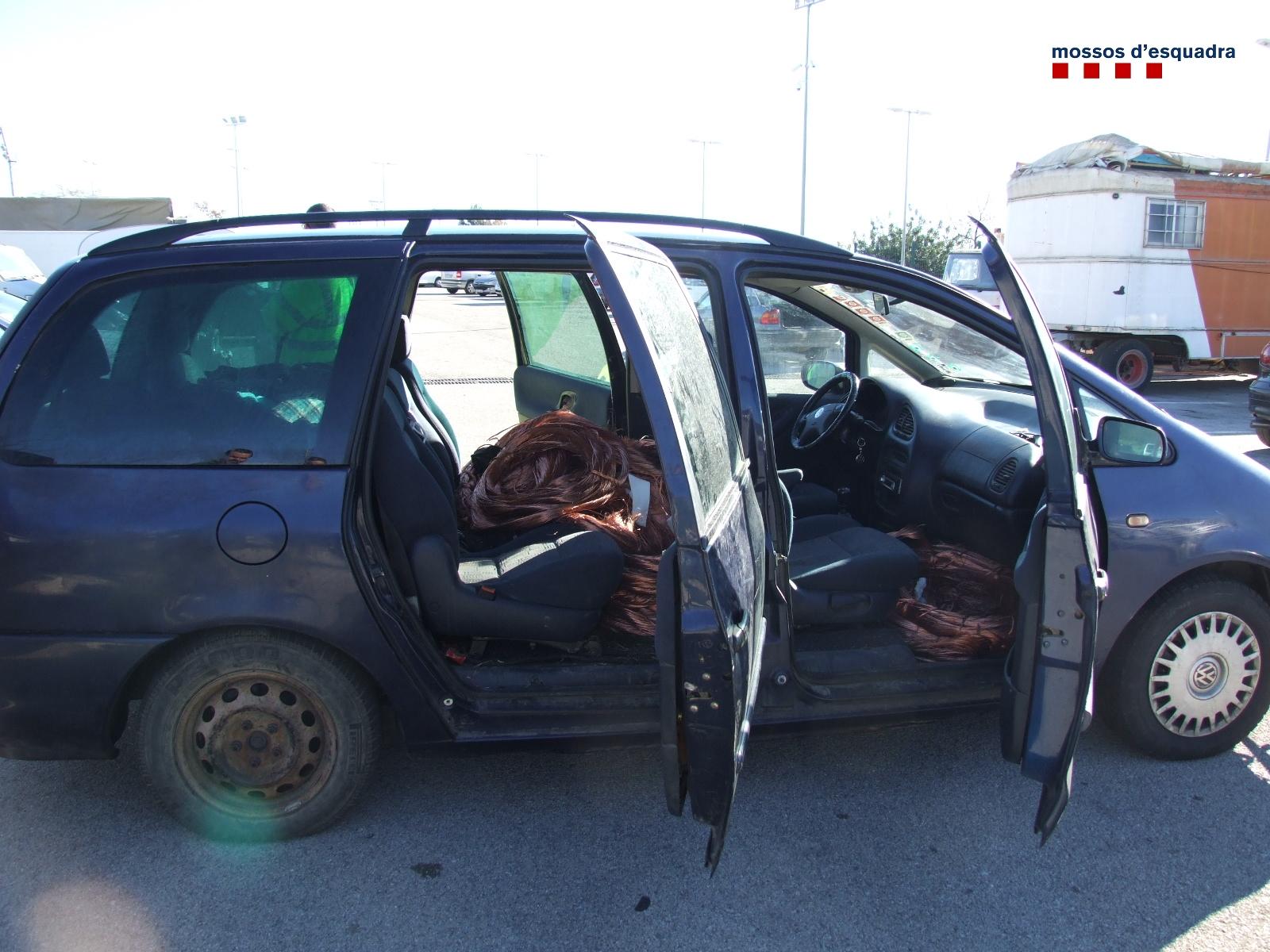 La furgoneta utilitzada per robar coure en més d'una ocasió // Mossos d'Esquadra