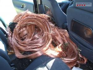 Imatge de part del coure robat // Mossos d'Esquadra