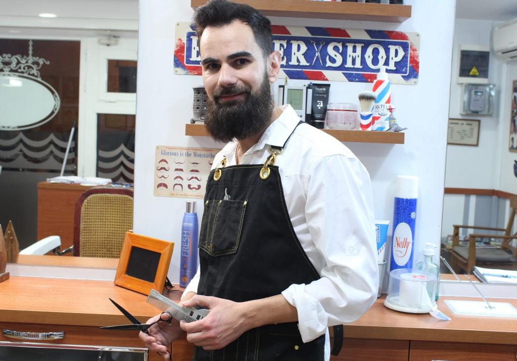 Miguel Díaz ha ganado dos premios en la Barcelona Barber Battle // José Polo