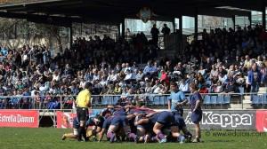 Moment del partit contra el Barça // UE Santboiana