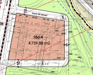 L'illa d'habitatges que es construirà entre el carrer Llevant i Bonaventura Calopa secciona la propietat actual dels veïns // Ajuntament de Sant Boi