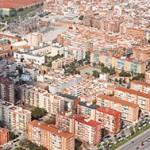 Imatge aeria de la caserna i la subestació del nucli urbà // Ajuntament de Sant Boi de Llobregat