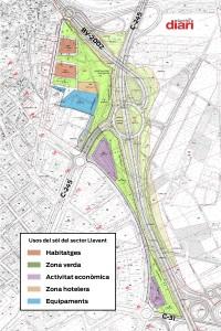 Plànol de la urbanització prevista al Sector Llevant // Sant Boi Diari