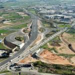 Imatge aèria del Sector Llevant amb les obres de construcció de l'enllaç entre autopistes // Generalitat de Catalunya
