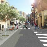 Recreació de com quedarà el carrer Lluís Pascual Roca després de la reforma // Ajuntament de Sant Boi