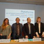 Els agents econòmics i socials, amb els alcaldes de la zona al capdavant, impulsen la nova plataforma per la millora del transport // Marc Pidelaserra