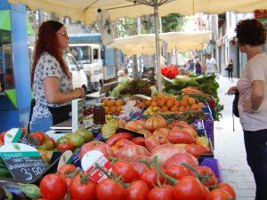 Diverses parades han ofert els millors productes del Parc Agrari // Marc Pidelaserra