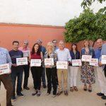 Moret, conjuntament amb altres alcaldes de la comarca, durant l'acte reivindicatiu // PSC Baix Llobregat