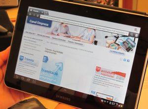 Imatge del portal web de la Finestreta única Empresarial // Ajuntament de Sant Boi