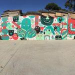 Panoràmica del mur de la terrassa de l'Ateneu // Miquel Caimary