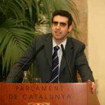 Manel Esteller ha rebut la medalla d'or de la institució // Parlament de Catalunya