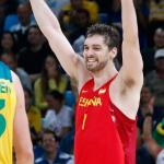 Gasol celebra la victòria que li dóna el bronze als JJOO de Rio // RTVE