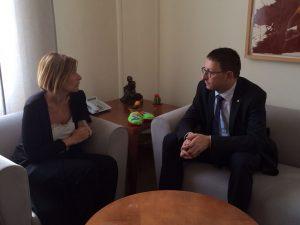 El conseller de Justicia, Carles Mundó, també s'ha entrevistat amb l'alcaldessa Lluïsa Moret // Generalitat de Catalunya
