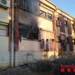 Imatge de l'edifici afectat un cop extingit l'incendi // Bombers de la Generalitat