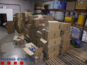 El material robat de l'empresa de Sant Boi // Mossos d'Esquadra