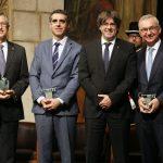 Esteller, juntament amb Baselga i Masseguer, i el president Puigdemont // Generalitat de Catalunya.jpg