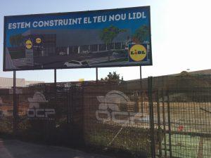 Imatge de l'hipermercat en construcció a la C-245 // ERC Sant Boi