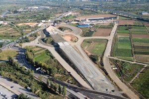 Vista aèria de les obres aturades // Pla Estratègic Metropolità de Barcelona