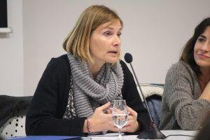 Lluïsa Moret durant la seva intervenció // Jose Polo