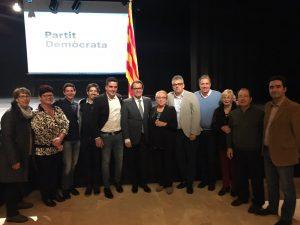 Artur Mas amb membres del PDECat de la ciutat, durant l'acte // PDECat Sant Boi