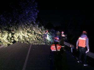 La carretera de Sant Climent a Sant Boi va estar tallada durant unes hores // Isidre Sierra