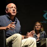 L'alcadessa de Sant Boi i el director artístic del festival // David Bueno