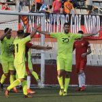 Oriol Molins celebra el gol de l'empat // David Ferrer - Santboià