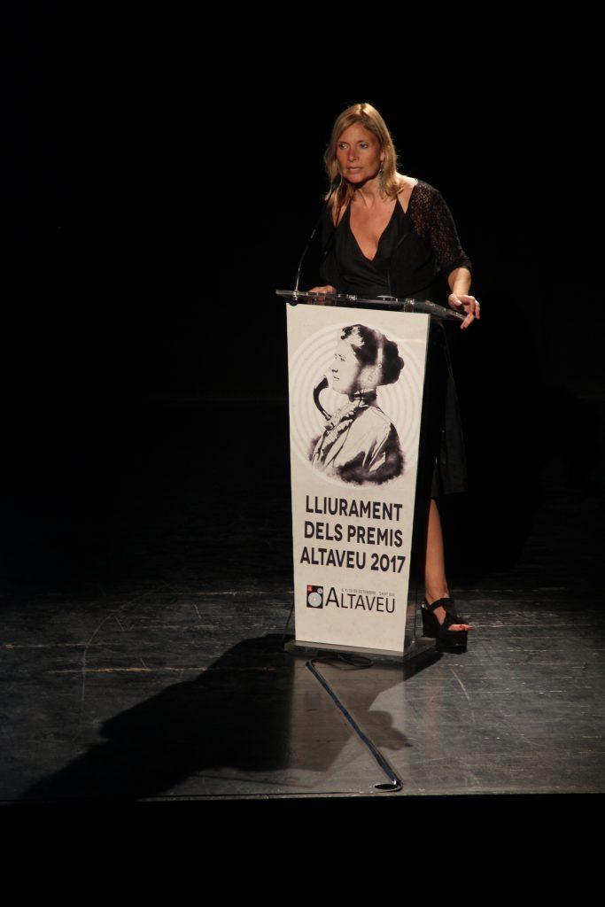 L'alcaldessa, Lluïsa Moret, ha elogiat el talent santobià // Jordi Julià