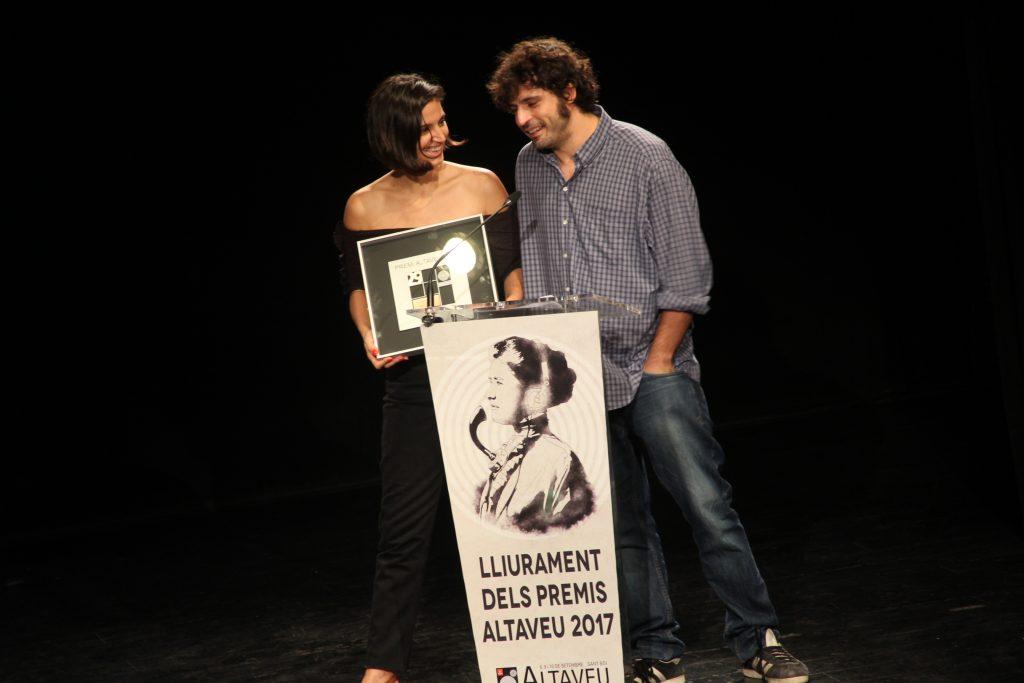 Maria Arnal i Marcel Bagés han estat reconegutsper la seva proposta conjunta // Jordi Julià