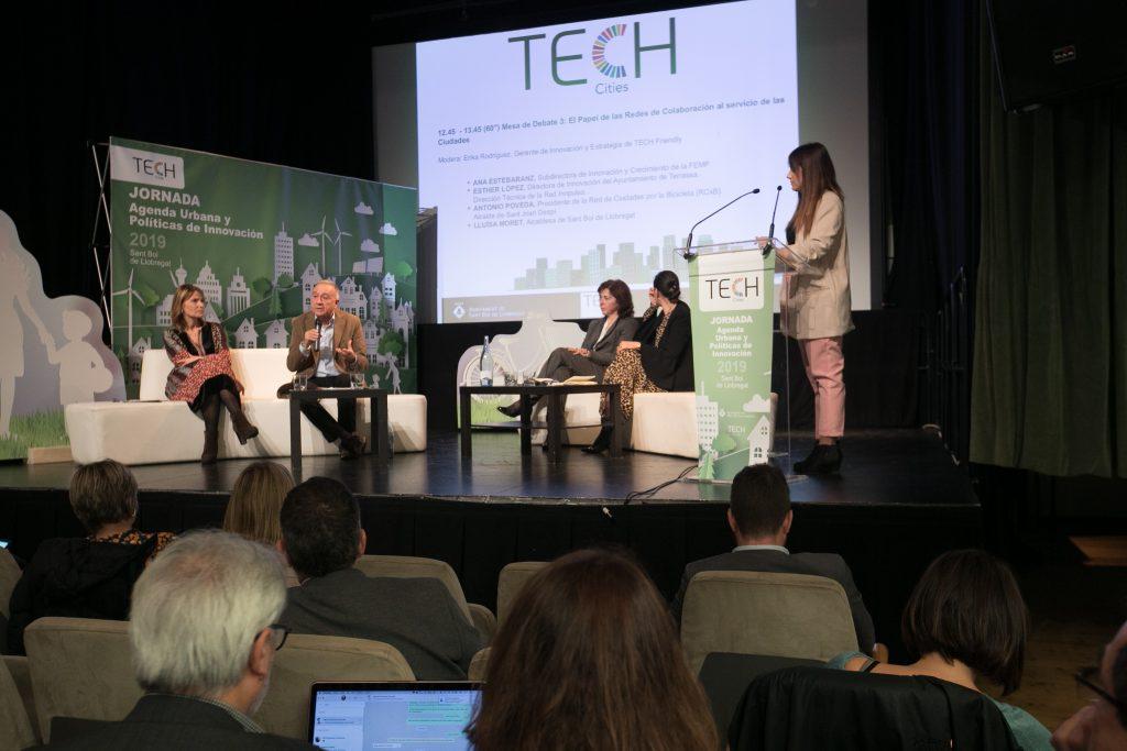 Una de les taules rodones de la jornada Tech Cities // Ajuntament de Sant Boi